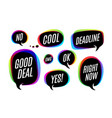 set of colorful bubbles icons or cloud talk with vector image vector image