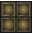 Set of four decorative calligraphic frames vector image vector image