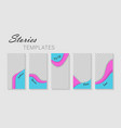 set stories templatedesign layout backgrounds vector image vector image
