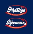 single word prestige vector image