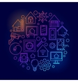 Smart home bright line vector image vector image