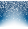 Snow background with lightning Blue sky and vector image vector image