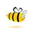 sweet and cute bee vector image vector image