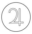 symbol jupiter icon black color simple image vector image