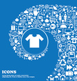 T-shirt icon sign Nice set of beautiful icons vector image vector image