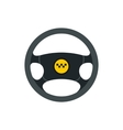Taxi steering wheel icon flat style vector image