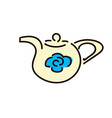 teapot pictogram an style is vector image vector image