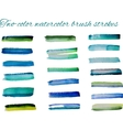 two-color watercolor brush strokes set vector image