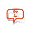 Vacation message sticker orange vector image vector image