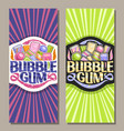 vertical banners for bubble gum vector image vector image