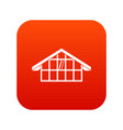 warehouse icon digital red vector image vector image