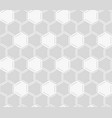 white honeycomb seamless pattern vector image