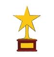 winner trophy icon vector image vector image