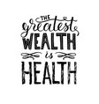 world health day lettering vector image