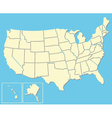 Map of the USA vector image