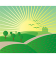 Meadow landscape background vector image