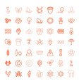 49 spring icons vector image vector image