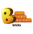 A letter B for bricks vector image vector image