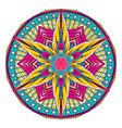 abstract mandala oriental pattern tattoo vector image