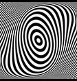 abstract op art pattern vector image vector image
