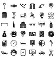 auto repair icons set simple style vector image vector image
