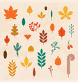 autumn leaves set flat design modern concept vector image vector image
