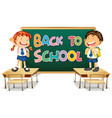 back to school template with student vector image vector image