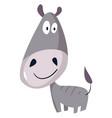 big headed donkey on white background vector image vector image