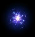 Blue firework flash vector image