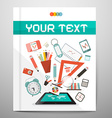 Book - Brochure - Leaflet Layout with School Items vector image vector image