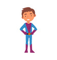 boy wearing superhero carnival costume cute kid vector image vector image