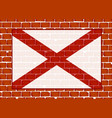 brick wall with flag alabama state vector image vector image