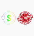 bright dotted dollar refund icon and vector image vector image