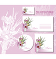 business card envelope vector image vector image