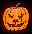 carved halloween pumpkin vector image vector image