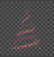 christmas tree for card transparent background vector image vector image