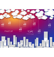 cloudsINFO citySUNSET vector image vector image