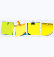 colorful sticky note using in school work vector image
