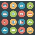Communication icons set flat design vector image