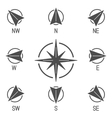 Compass Icons Collection vector image