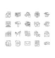 email line icons signs set outline vector image vector image
