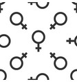 female gender symbol icon seamless pattern on vector image