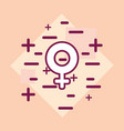 female symbol icon vector image vector image