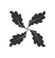 four oak leafs vector image vector image