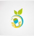 fresh juice logo icon element and template vector image vector image
