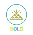 gold web button linear icon for online payments vector image vector image