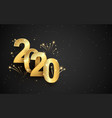 golden sparkling luxury text 2020 vector image