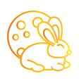 happy mid autumn festival cute bunny moon cartoon vector image vector image