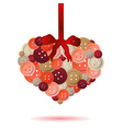 heart from red and pink buttons eps10 vector image vector image