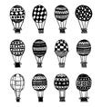 hot air balloons vector image vector image